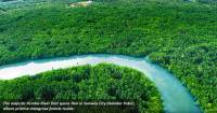 Drone shot of Pendas River at Sunway City Iskandar Puteri